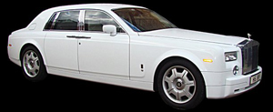 Limos for Hire -  Our White Phantom Limo for wedding hire
