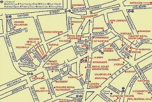 West end london map